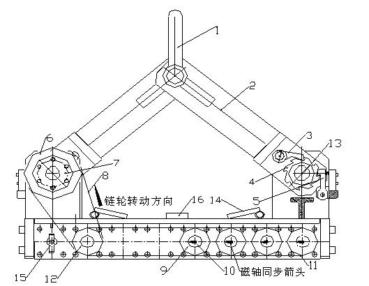 自动永磁吸吊器结构图:龙海起重工具