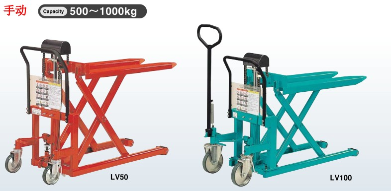 日本bishamon手动液压升降机,手动刹车升降机下降控制手柄是拔杆设计图片