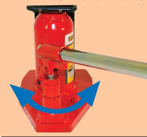 G型系列所有产品压杆座均可以左右旋转:龙海起重工具