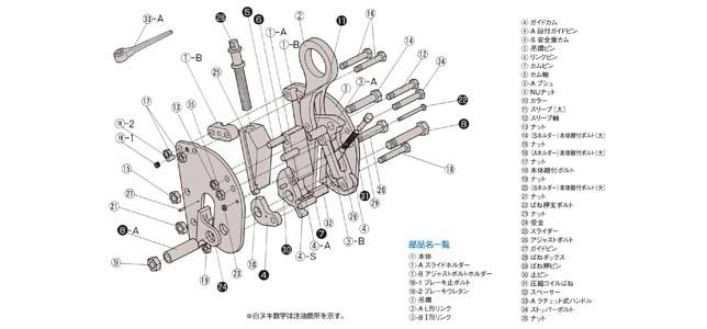 重钳结构分解图